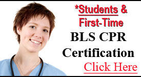 Basic Life Support BLS cpr certification